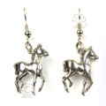 Jewellery greeting card with sterling silver horse earrings for young ladies