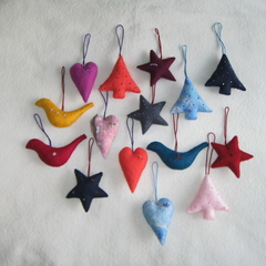 15 Felted Christmas Decorations #18