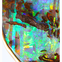 Boulder opal greeting card showing Australian outback opal