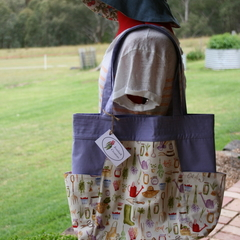 Homegrown Cotton Tote Bag, Shoulder Bag, Eco Friendly Bag, Shopping Weekend Bag,