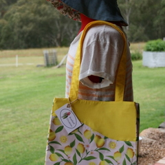 Lemon Fresh Cotton Tote Bag, Shoulder Bag, Eco Friendly Bag, Shopping Bag