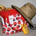 Ladybird Cotton Tote Bag, Shoulder Bag, Eco Friendly Bag, Shopping Bag