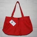 Coral Denim Tote Bag, Shoulder Bag, Eco Friendly Bag, Shopping Bag, Weekend Bag,