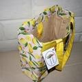 Lemon Fresh Cotton Tote Bag, Shoulder Bag, Eco Friendly Bag, Shopping Bag