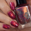 """Nail polish - """"Today At Noon"""" A dark pink holo with a copper magnetic effect"""