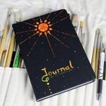 Journal, Notebook, Journaling Kit, Black Book, Hand painted journal, A5 Notebook