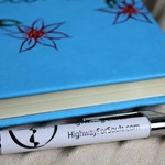 A Book For Notes, Musings, Blue, Hand Painted, Book For Gift, Writing Journal, N