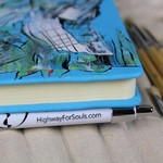 Notebook, Journaling Kit, Unique gift, Hand painted journal, A4 Notebook, Unisex