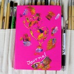 Recipe Journal, Recipe Book, Kit, Notebook, Abstract Love, Heart, Unique Gift,