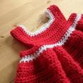 Crochet Christmas Dress - Newborn