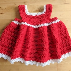 Crochet Christmas Dress - Newborn