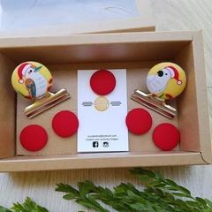 Santa Birds Magnet Gift Box Set