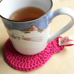 Crochet Cotton Cat Coasters