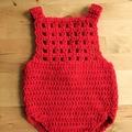 Crochet Christmas Romper - Newborn