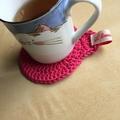 Crochet Cotton Cat Coasters