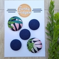 Navy Tropical Flat Magnet Set
