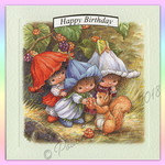 Victoria Plum Birthday Card Two