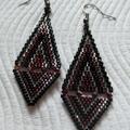 Diamond Drop Earrings with Swarovski Crystals