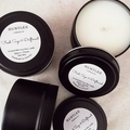 Fresh Sage & Driftwood Scented 100% soy wax travel tin candle. 4oz, 92g, small,