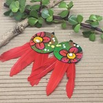 Flowers and Red Feathers