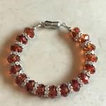 Red Magma Swarovski Crystal Bracelet