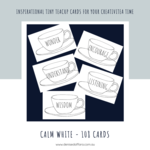Calm White Teacup 108 Cards