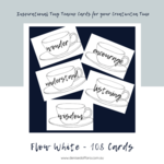 Flow White Teacup 108 Card Deck