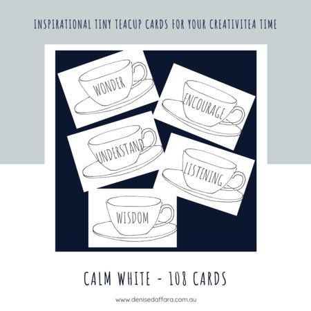 Calm White Teacup 108 Cards