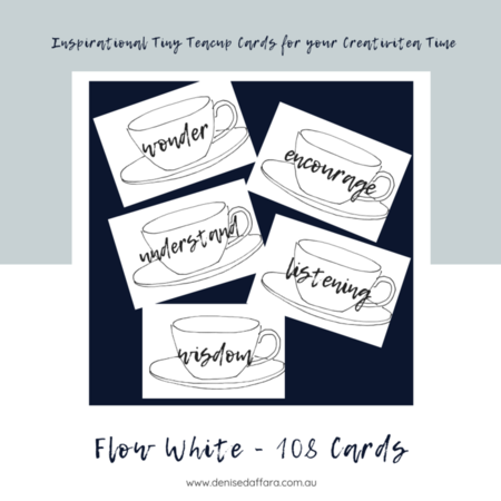 Flow White Teacup 108 Card Deck
