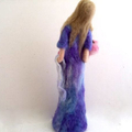 Needle felted art doll, mother and baby, madonna, soft sculpture, wire armature,