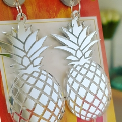 Silver Pineapples - Acrylic Dangle Earrings