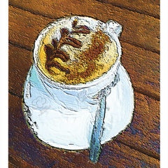 Cup of Coffee greeting card. The perfect card to send to someone to catch up