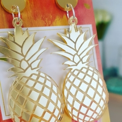 Gold or Silver Pineapples - Acrylic Dangle Earrings
