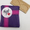 Pink Purple Kumihimo Beaded Bracelet Boho