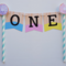 Donuts Cake Bunting Birthday Custom Made Personalized Name or Number doughnut
