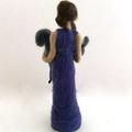 Needle felted art doll, needle felted goat, felt sculpture