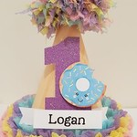 Donuts 1st Birthday Party Hat Custom Handmade Personalized Name