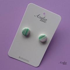 Azalea Lane Au - Purple & Green Marble (regular studs)