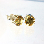 Citrine 8mm sterling silver studs plus BONUS 3mm Citrine sterling silver studs