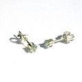 Sky Blue Topaz 3mm tiny sterling silver stud earrings