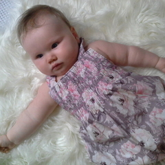 Hannah Floral Smocked Overalls
