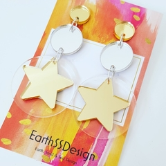 Star Burst - Acrylic Dangle Earrings