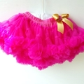 6-36 Month Baby Tutus Hot Pink, Black Or Ruby Red