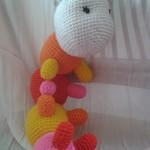 Crazy crocheted Caterpillar