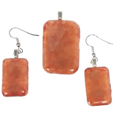 Morphing Orange Pendant Set