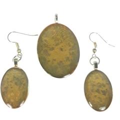 Abstract Autumn Jewellery Set