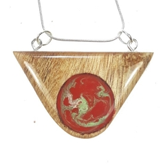 A Touch of Green with Red Pendant