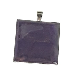 Royal Purple Abstract Square Pendant
