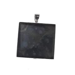 Motley Black Abstract Square Pendant