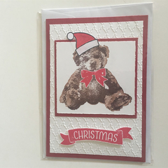 Christmas Bear Card - stampin up